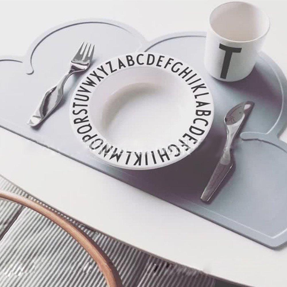 Grau Cisixin Tragbar Rutschfeste Silikon Cloud Tisch Matte f/ür Kinder