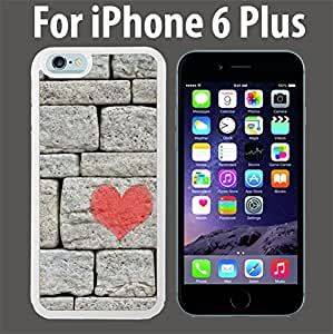 Brick Wall Pink Heart Custom Case/ Cover/Skin *NEW* Case for Apple Iphone 4 4s - White - Plastic Case (Ships from CA) Custom Protective Case , Design Case-ATT Verizon T-mobile Sprint ,Friendly Packaging - Slim Case
