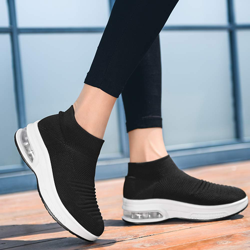 Womens Slip on Walking Shoes Mesh Breathable Air Cushion Work Nursing Shoes Easy Casual Sneakers