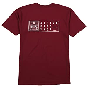 Active R/S Card T-Shirt in Burgundy - L