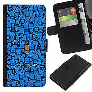 EJOY---La carpeta del tirón la caja de cuero de alta calidad de la PU Caso protector / Sony Xperia Z2 D6502 / --Diferente