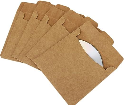 25 x milopon fundas Papel Kraft sobres (cartón para CD/DVD/BD Disco embalaje: Amazon.es: Hogar