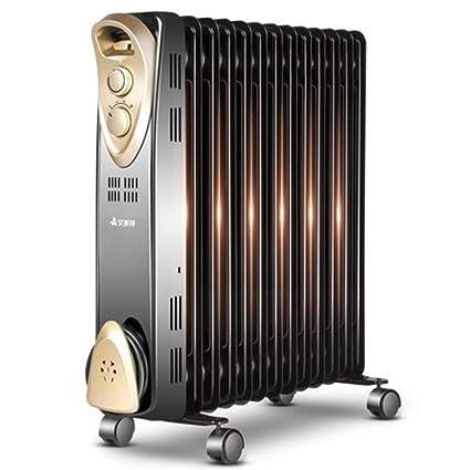 Heater GJM Shop Calentador De Radiador De Aceite 2500W 13 Tabletas Negro Sobrecalentar & Protección contra