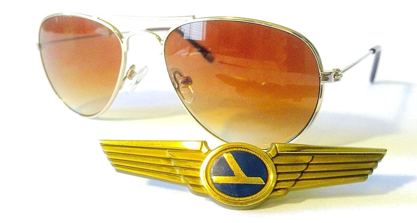 Aviator Baby Boys Girls A2 Gold Frame Ages 0-3 Pilot Sunglasses