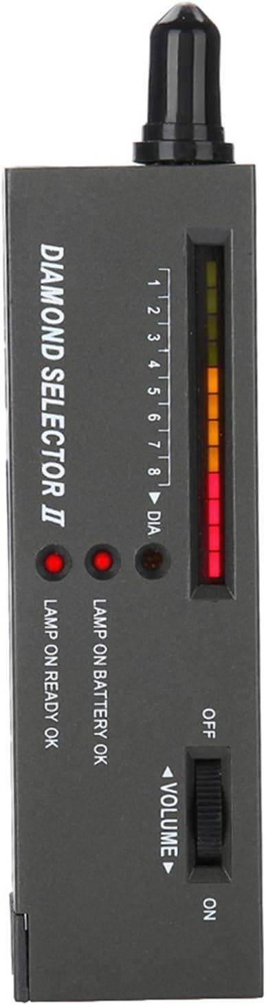 NECZXW1 Probador de Diamantes, Chip portátil de Alta precisión, Aviso de Timbre, sonda de aleación, indicador LED, Adecuado para Gemas como Jade, ágata, etc.
