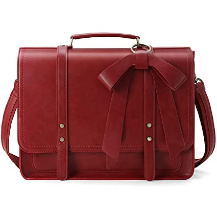 d1fa8ff56d14 Amazon.com  ECOSUSI Women Briefcase PU Leather Laptop Shoulder ...