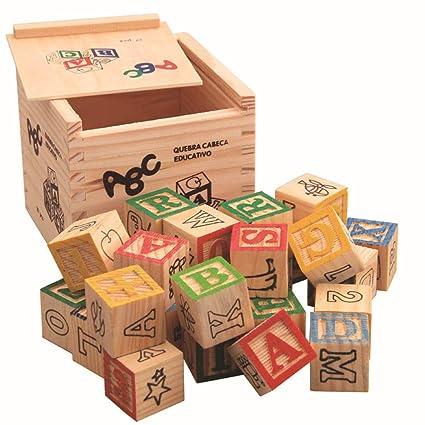 Amazon.com: Bloques ABC de madera BELUPAID, 27 piezas extra ...
