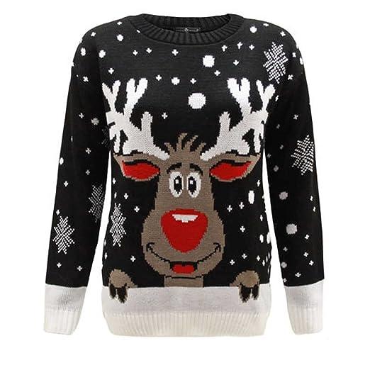 b368a33608f Amazon.com: Kids Xmas Jumper Merry Christmas Rudolph Children ...