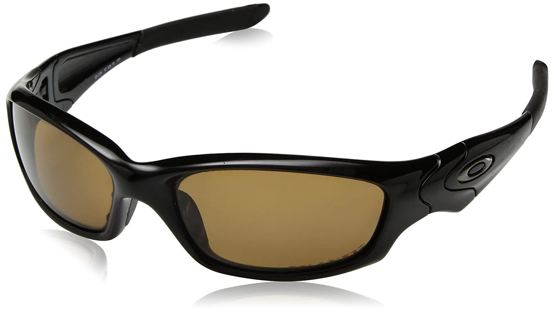 c91d3f3a42a Oakley Straight Jacket 04-325 Polished Black Black Iridium Sunglasses   Amazon.in  Sports