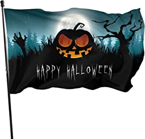 Horror Movie Halloween Friends Garden Flag Outdoor, Trick or Treat Durable Fade Resistant Heavy Duty Double Sided Flags 3 x 5 Ft (2)