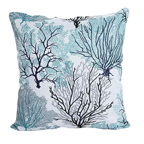 YANG-YI 2017 Peacock Fashion Sofa Bed Home Decoration Pillow Case Cushion Cover (45cm45cm, (Halloween Ocean Park 2017)