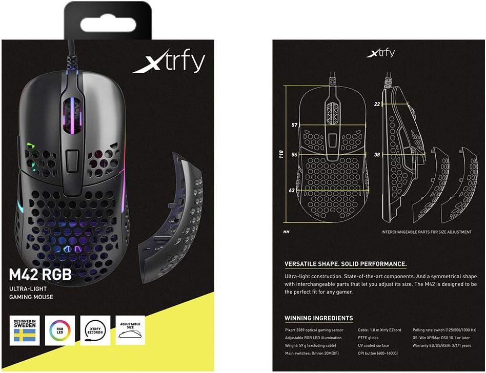 Xtrfy M42 Rgb Ultraleichte Gaming Maus Schwarz Elektronik
