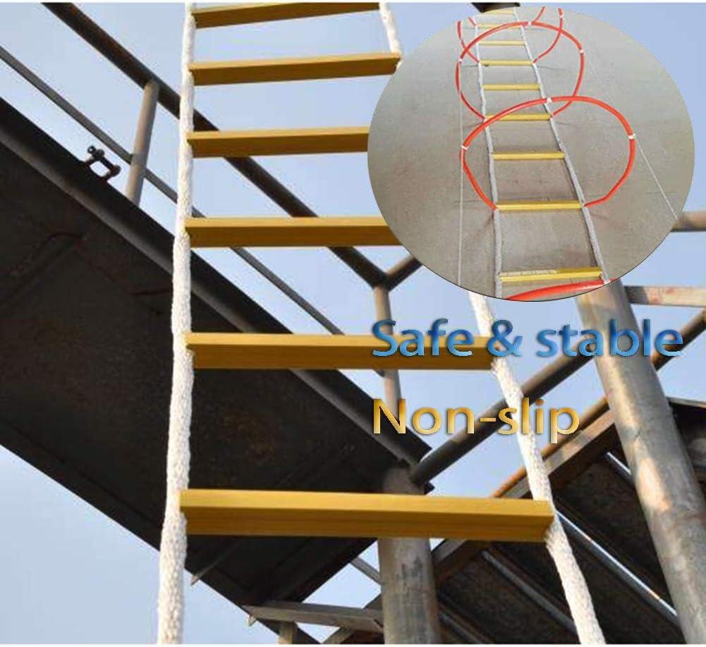 Escalera De Evacuación De Seguridad Contra Incendios De Emergencia Ignífuga Incendios,Rodeado De Cerrado Escalera Plegable Cuerda De Cuerda De Alambre Escape De Emergencia Combate Contra Incendios,20M: Amazon.es: Deportes y aire libre
