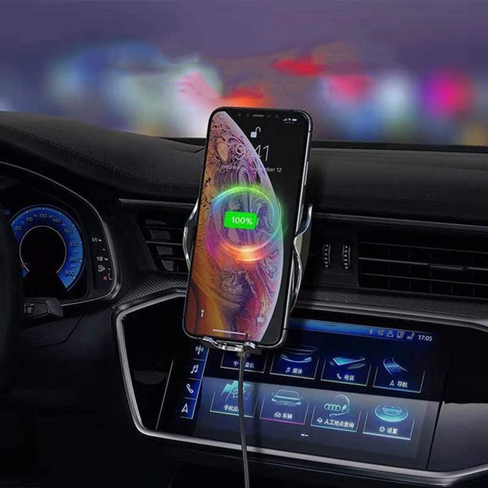 Samsung Galaxy Note 9//S9 etc Automatic Clamping Wireless Car Charger Mount 15W Fast Charging Air Vent Car Phone Holder Compatible with iPhone Xs//Xs Max//XR//X//8 Showvigor Qi Wireless Car Charger