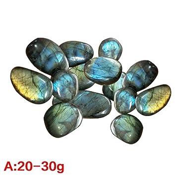 Gaeruite - Piedras de flúor arcoíris naturales - colección de piedra lunar de cristal para decorar palmas pecera, As Show, 1 PCS A : 20-30g: Amazon.es: ...