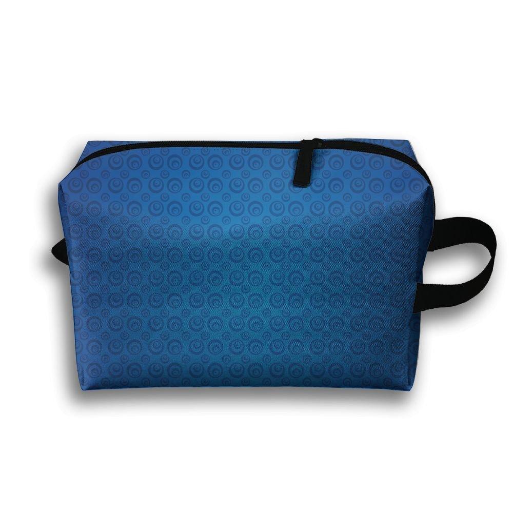 青の背景壁紙Small Travel Toiletry Bagスーパーライト一泊旅行トイレタリーオーガナイザーfor B079NZD6QX