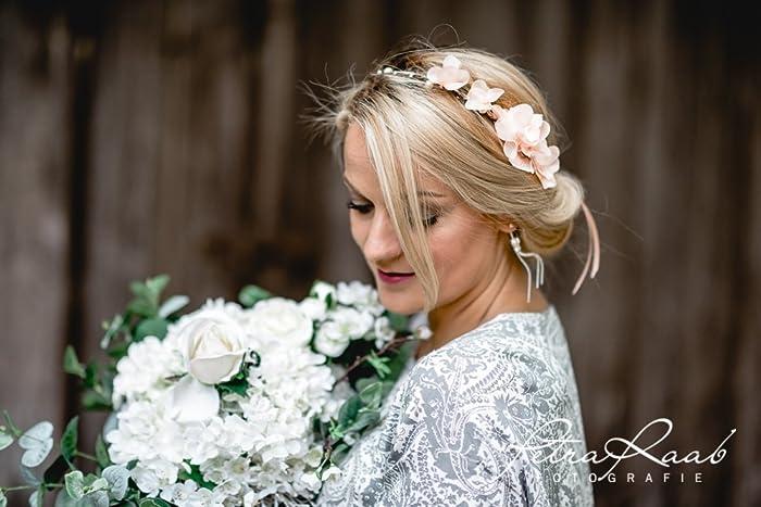 Blumenkranz Bluten Braut Frisur Hochzeit Boho C4
