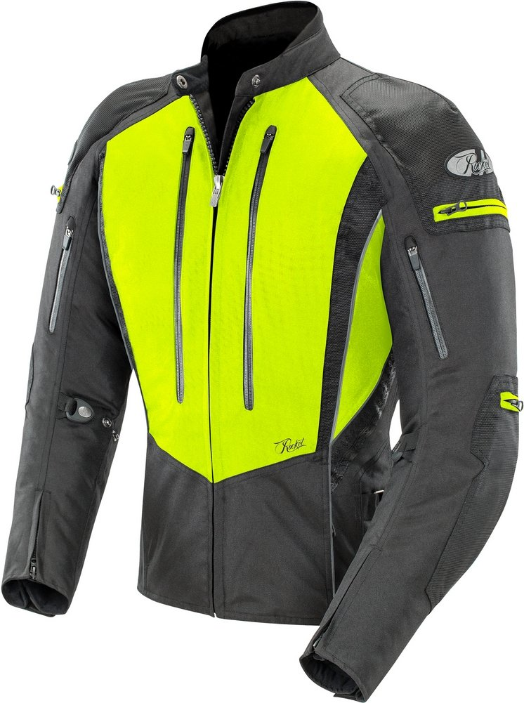 1741-5502 Joe Rocket Womens Atomic 5.0 Textile Jacket Hi-Viz Yellow//Black, Small