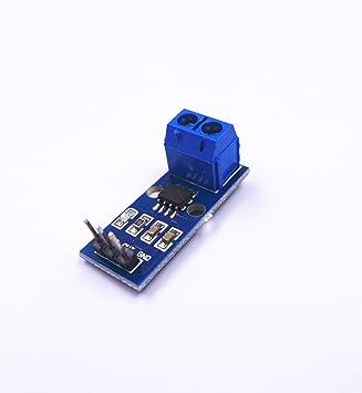 JZK® ACS712 Detector de corriente Sensor Gama 20A Módulo de detección de corriente Para Arduino Bascom Raspberry Pi: Amazon.es: Electrónica