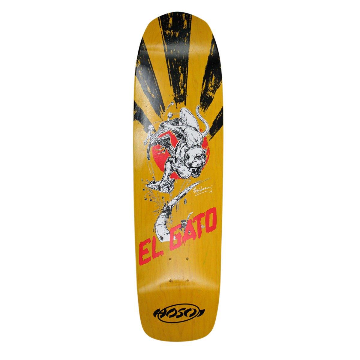9 x 33-Inch Hosoi Skateboards Gonz 93 Skateboard Deck White