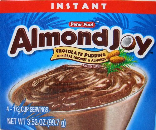 Peter Paul Almond Joy Instant Chocolate Pudding Mix 3.52 Ounces (Pkg of 12) by Almond Joy (Image #1)