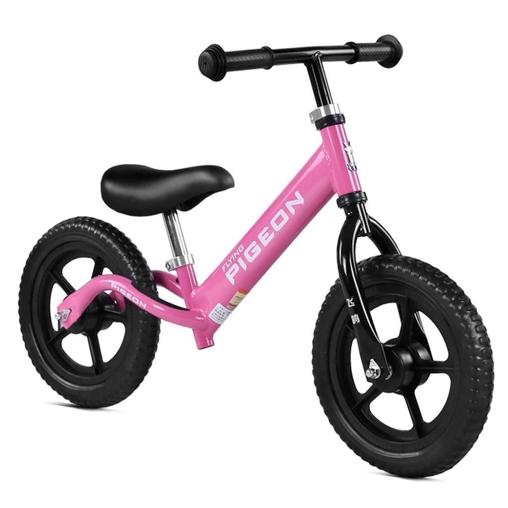 ガールギフトのスポーツバランスバイク、ピンクのプッシュバイク、軽量トレーニングバイク、調整可能なシートとハンドルバーのないペダル幼児用自転車、調整可能なハンドルバーとシート、26歳 ZHAOFENGMING (Color : Pink, Size : As shown) B07T9TJV95 Pink As shown