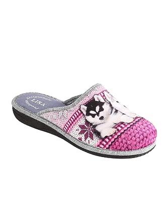 LINA - Zapatillas de Estar por casa para Mujer: Amazon.es: Ropa y accesorios