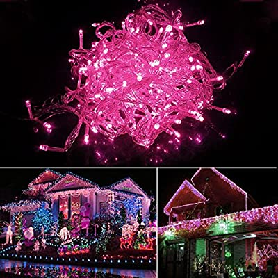 20M 200LED Pink Bulbs Christmas Xmas Fairy Party String Lights Waterproof 8HOT