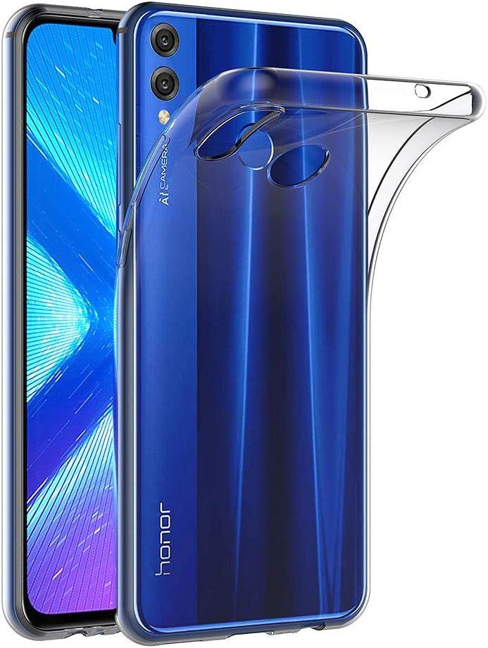 AICEK Funda Honor 8X, Transparente Silicona Fundas para Huawei ...