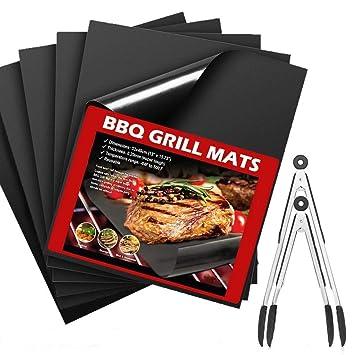 BBQ Grill Mat Set of 8-Reutilizable Non Stick Oven Liner ...