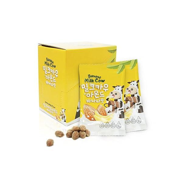 Nuts & Berries Leche de nuez de primera calidad vaca, sabor a banana, almendras