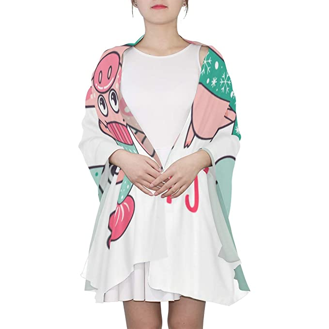 Funny Piglets 2019 Happy New Year Unique Fashion Scarf For