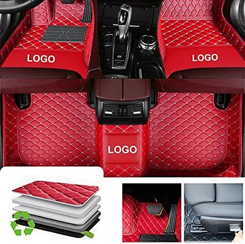 Awotzon Custom Floor Liners for Car SUV Truck Van, All Weather Waterproof Protection,Heavy Duty Floor Mats Liners Full Set – Red