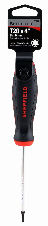 Sheffield 58741 Star Driver, T20 x 4 Inch - Screwdrivers - Amazon.com