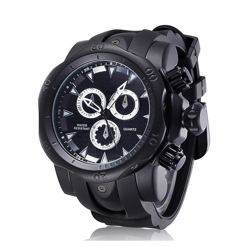 吉祥Beginningメンズクォーツファッション中東スタイル腕時計 one size ブラック B075F1WRQMブラック