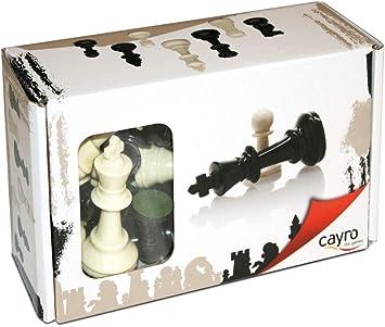 Cayro - Accesorios de Ajedrez Nº4 - Juego de Tradicional - Juego de Mesa - Desarrollo de Habilidades cognitivas - Juego de Mesa (091): Amazon.es: Juguetes y juegos