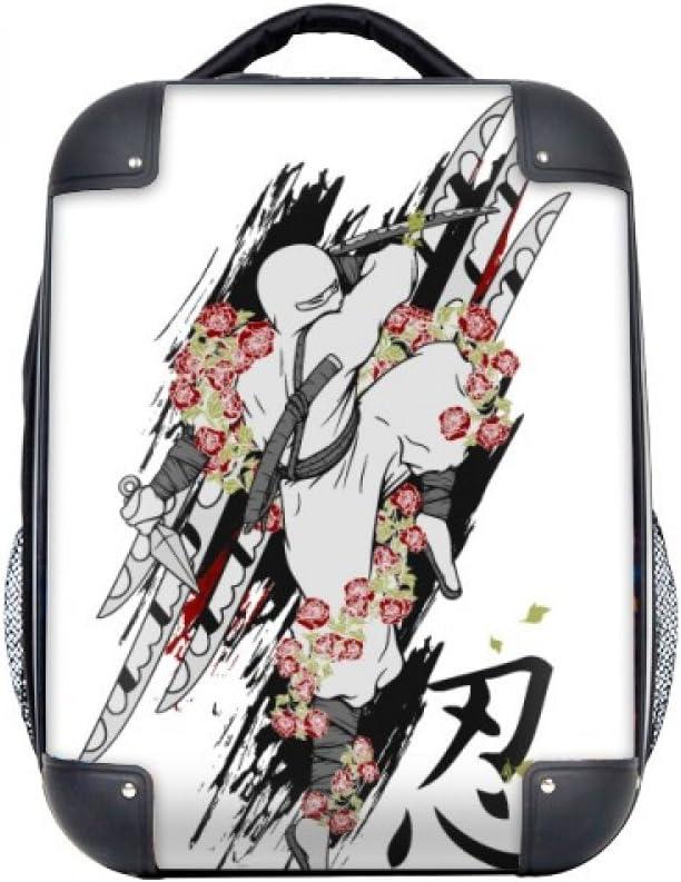 DIYthinker Japón Cultura Ninja Samurai Espada del estuche rígido de transporte para hombro Niños Mochila 15