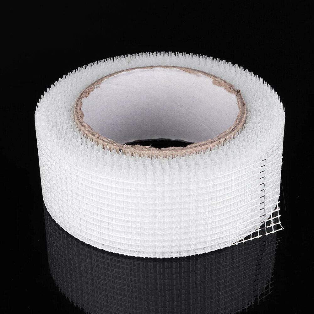 blanc Vogueing Ruban adh/ésif mural en fibre de verre imperm/éable pour r/éparation de cloisons s/èches