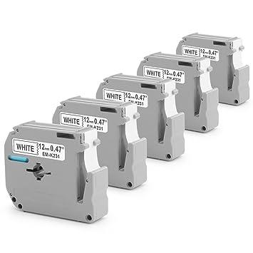 PT80 Beschriftungsband kompatibel zu Brother P-touch M-K231 MK231 PT70