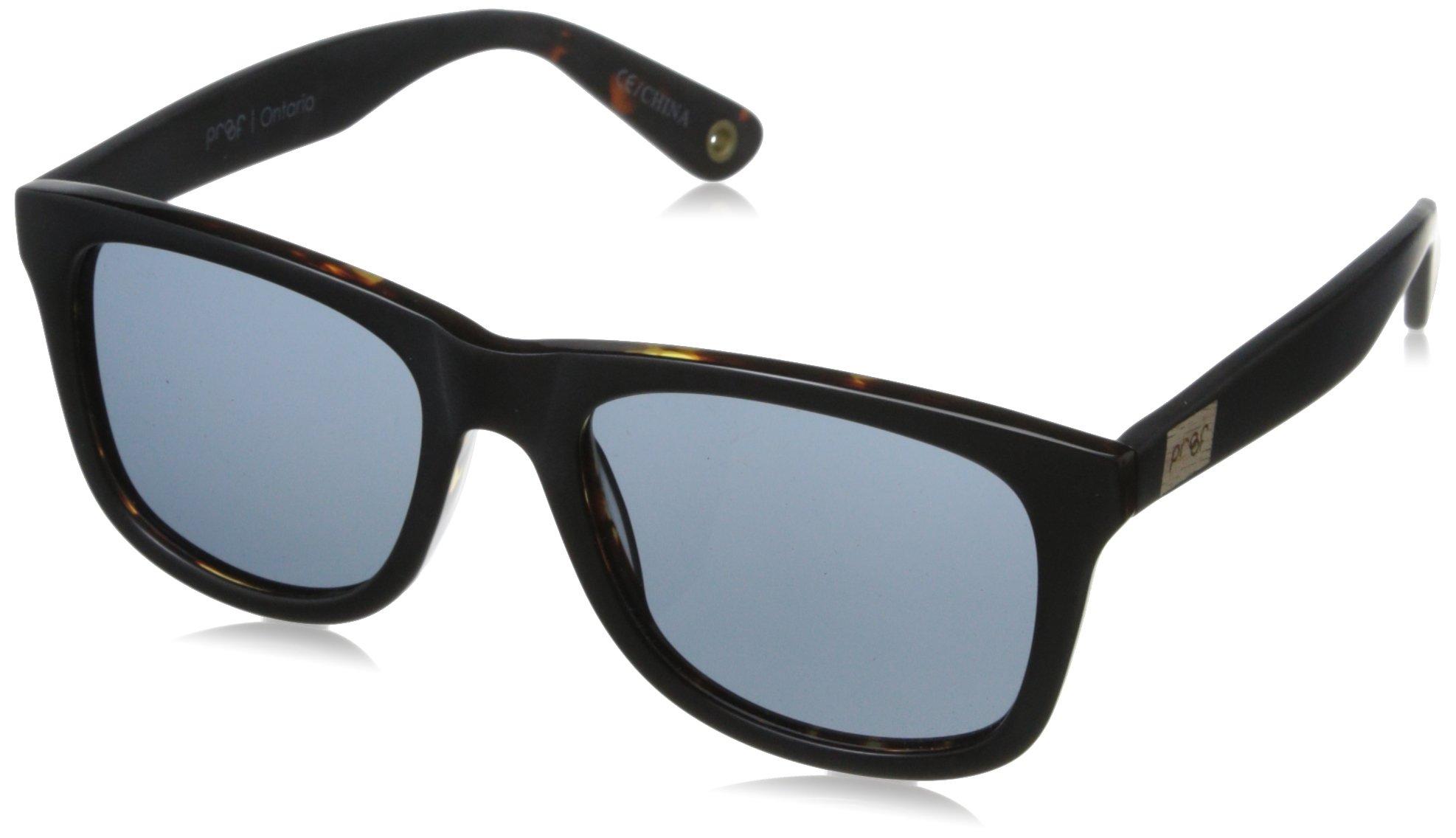 Proof Eyewear Unisex Ontario Pear Skate Wood Sunglasses Handcrafted Water Resistant,  Matte Black,  52 mm