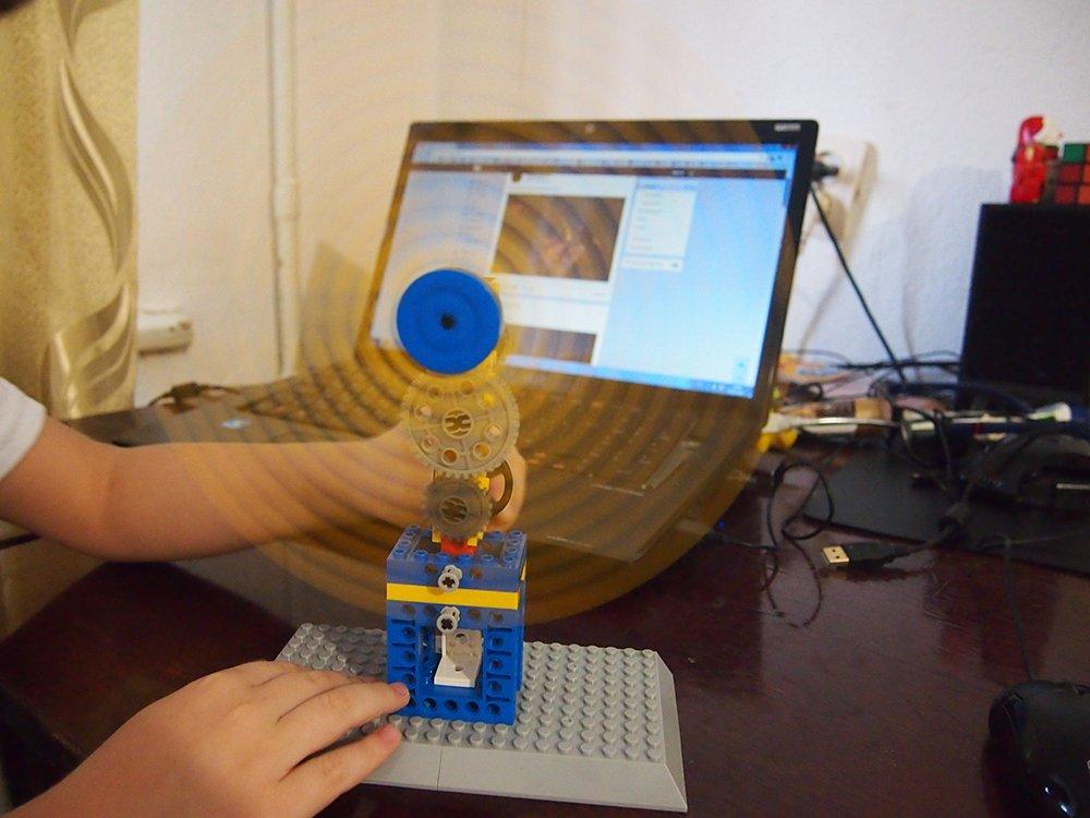 Windmill Mechanical Gear Technic Building Blocks Engineering Children's Science Educational STEM Toys,3 in 1 (Windmill)