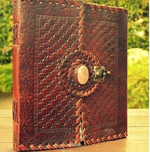 qualityart-handmade-journal-leather-sketchbook-notebook-moonstone-brown-diary-9x8