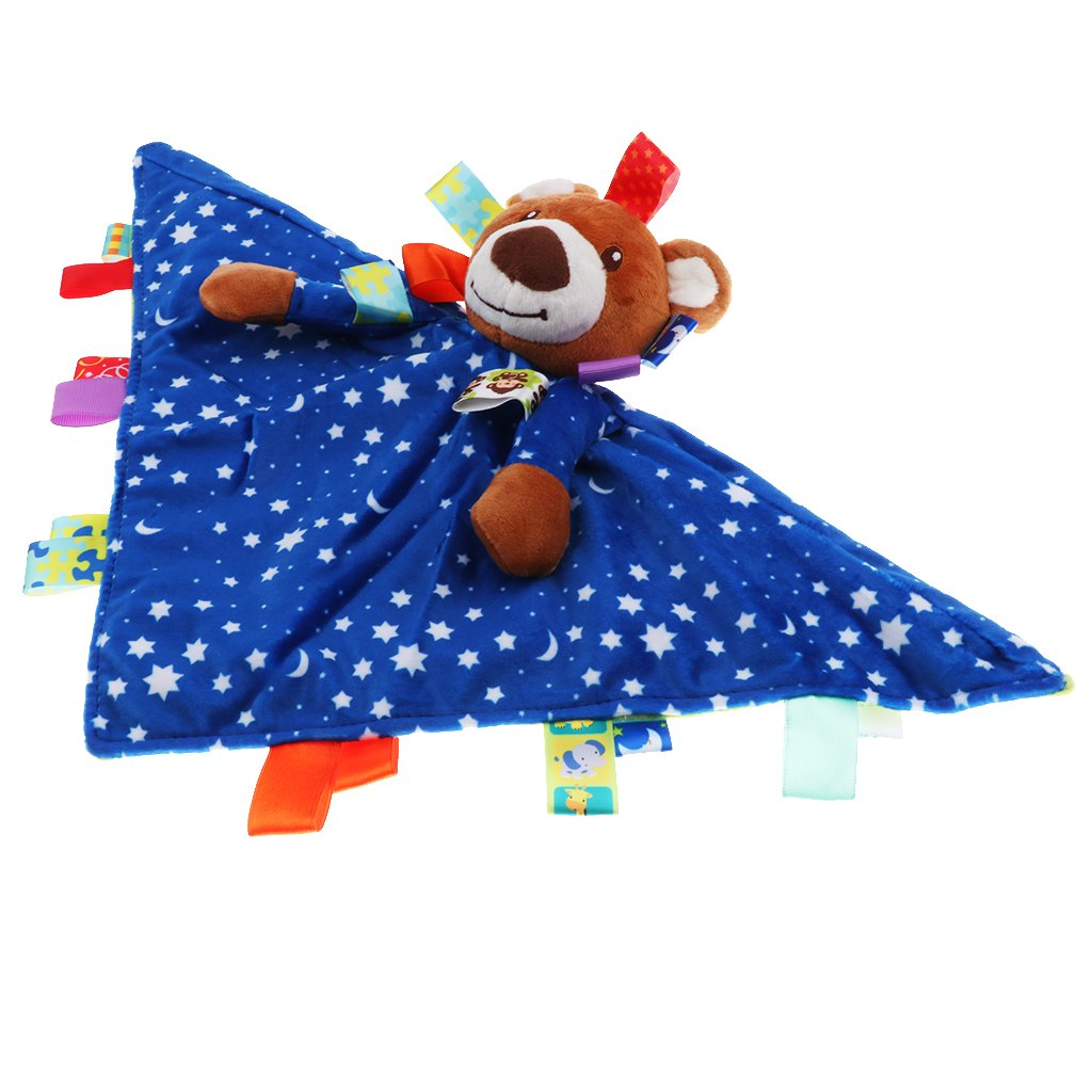 as described Toygogo BABY TAGGY TAGGIE BLANKET COMFORTER BOY GIRL GIFT TAG SECURITY BLANKETS ANIMALS Owl 2
