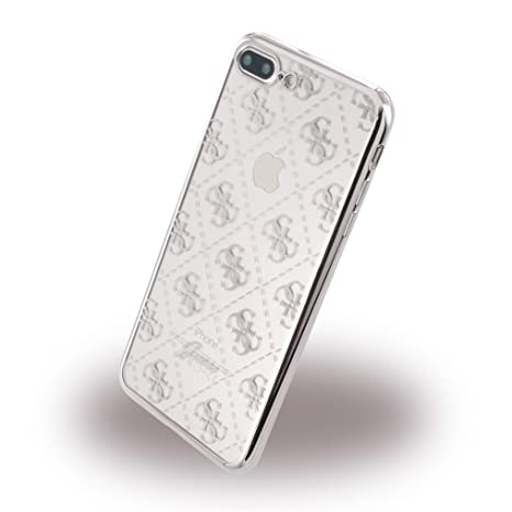 Guess 4G Transparent - TPU Case - Silver - iPhone 7: Amazon