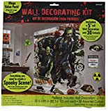 Amscan Zombie Apocalypse Halloween Trick Or Treat Party Scene Setters Mega Value Wall Decorating Kit (32 Piece), 65