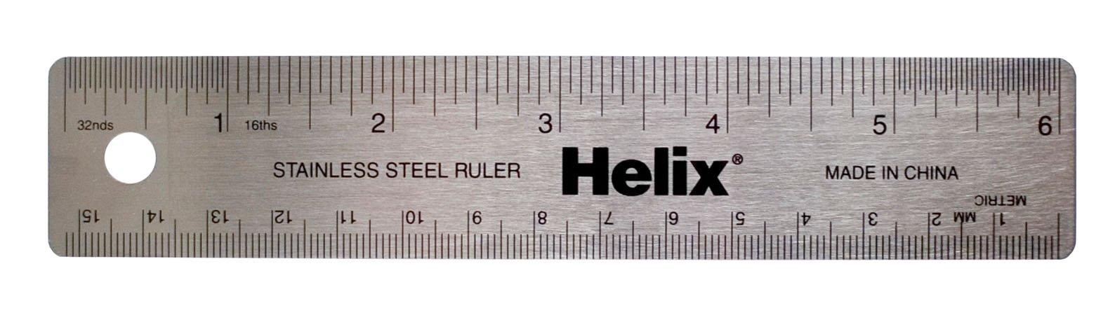 Helix Stainless Steel Ruler 6'' / 15cm (13006)