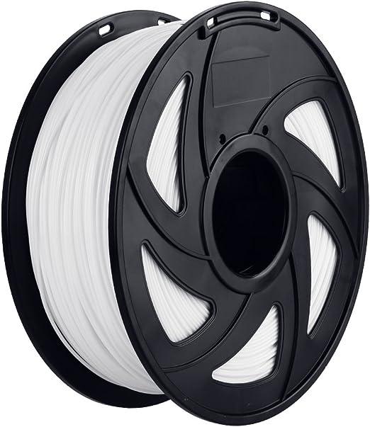 Anpro 3D PLA-1KG 1.75-WHT PLA Impresora 3D Filamento, 1 kg Bobina ...