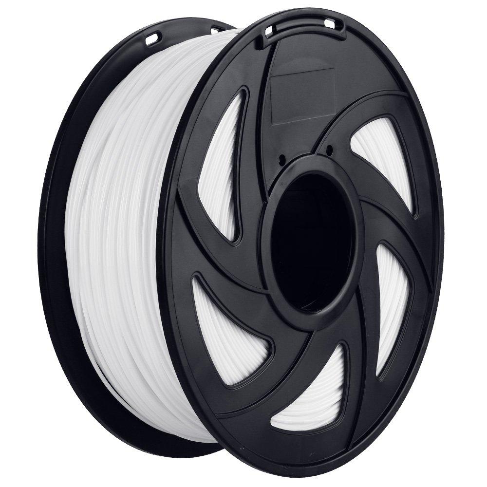 Anpro 3D PLA-1KG 1.75-WHT PLA Impresora 3D Filamento, 1 kg Bobina, 1.75mm, Blanco