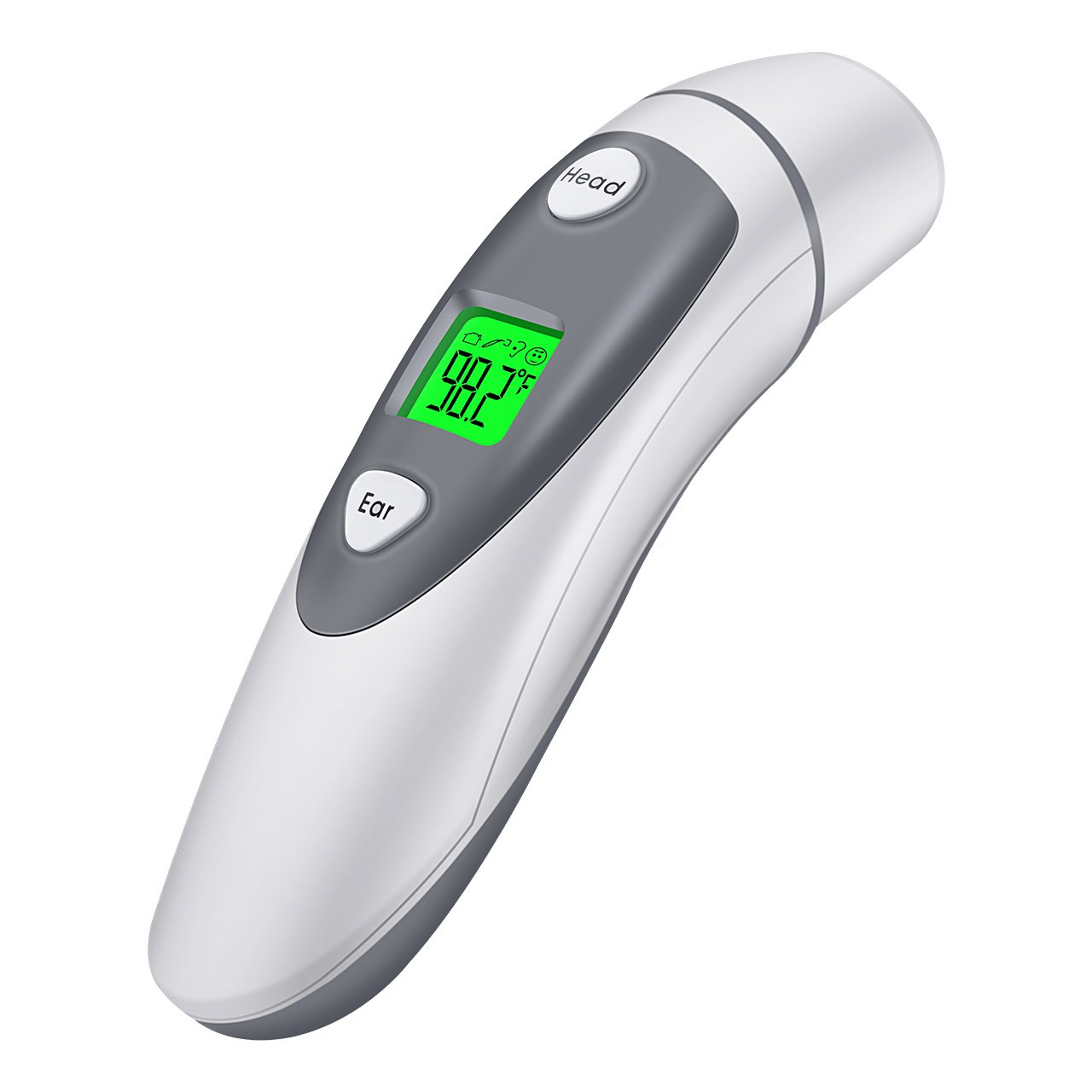 Habor Medical Forehead Thermometer Ear Thermometer Instant Read IR Clinical Thermometer with LED Backlit, Fever Alarm and Memory Function
