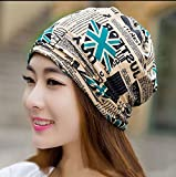 Pyrsun(TM) new Design 2 Use Scarf Knitted Winter Hats for Women Lady Cap Letter Beanies Women Hip-hot Skullies Women Gorros Beanies
